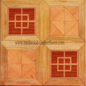 Red Maple Teak Edge Wooden Art Parquet Panel Floor
