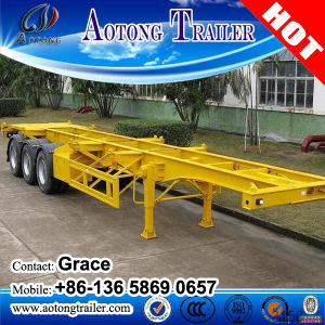 Container Transport 2 Axles or 3 Axles Skeleton Skeletal Semi Trailer for Sale, 20feet 40feet Skeleton Trailer pictures & photos