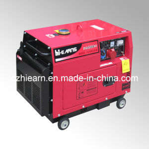 Air-Cooled Silent Type Single Cylinder Diesel Generator (DG5500SE) pictures & photos