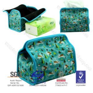 Hot Selling China Supply Handmade Neoprene Tissue Box, Tissue Holder pictures & photos