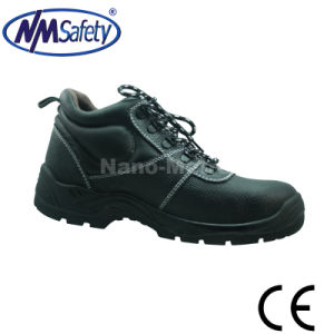 Nmsafety Middle Cut Shock Absorber Heel Safety Shoes pictures & photos