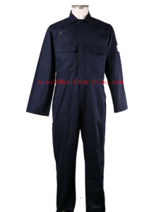 Nfpa2112 Fire Retardant and Oil Resistant Mens Navy Working Coverall Suit pictures & photos