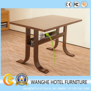 Hotel Furniture Solid Wood Top Rectangle Coffee Table Dining Table pictures & photos