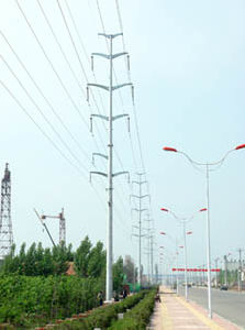 220kv Transmission Line with Steel Pipe Tower pictures & photos