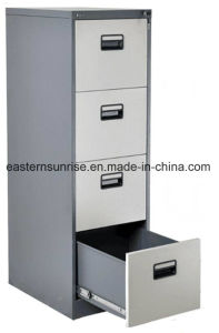 Power Coating Four Drawer Metal Steel Iron Storage Filing Cabinet pictures & photos