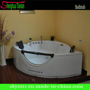 ABS Skirt Corner Jacuzzi Whirlpool Hydro Massage Tub (TL-318) pictures & photos