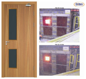 Bm Trada Certified Wooden Fire Door with High Quality pictures & photos