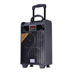 New Rechargeable Portable Trolley Speaker with Laser Light pictures & photos