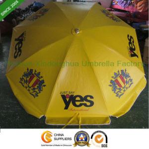 Customized Logos Advertising PVC Beach Umbrella with Tilt (BU-0048TP) pictures & photos