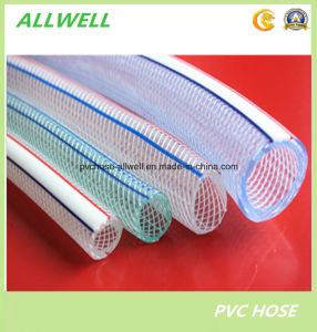 PVC Plastic Clear Transparent Flexible Reinforced Fiber Braided Irrigation Water Pipe Garden Hose Pipe pictures & photos
