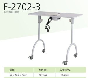 Folding Manicure Table with Vacuum Cleaner (TKN-12702B) pictures & photos