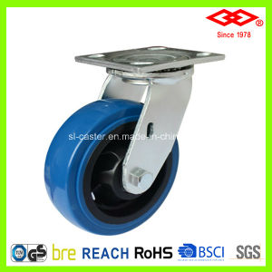 200mm Swivel Plate PU Wheel Heavy Duty Caster Wheel (P701-36FA200X50) pictures & photos