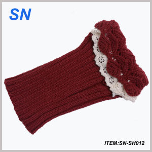 Hot Selling Shorter Boot Cuffs with Crochet Lace Top (SN-SH012) pictures & photos