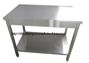 Stainless Steel Work Table with Wood Underneath (1000-600)