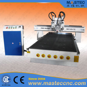 Woodworking CNC Router with 3 Spindles (MA1325MP-TS)