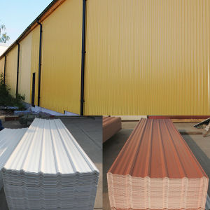 Colorfast PVC Corrugated Roofing Sheet pictures & photos