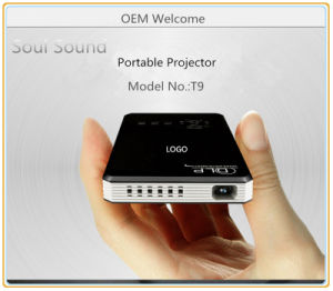 DLP Android 4.4 Bluetooth WiFi Projector with Pocket Size (T9)