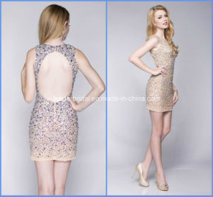 Sheath Prom Short Party Gowns Sequins Homecoming Cocktail Dresses Y1033 pictures & photos