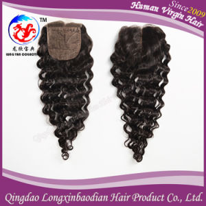 Curly Virgin Remy Human Hair Lace Closure Top Closure (CBWB-A711)
