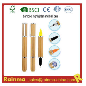 Bamboo Highlighter Marker Pen with Light pictures & photos