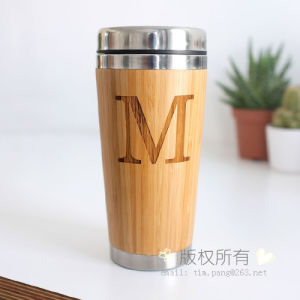 Stainless Steel Inner and Bamboo Outer Present Travel Mug pictures & photos