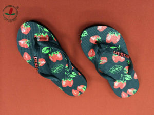 Cute Ladies Printing Rubber Flip Flops pictures & photos