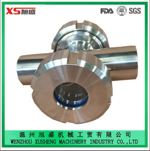 Dn40 Stainless Steel Ss304 Ss316L Sanitary Hygienic Union Cross Sight Glass pictures & photos
