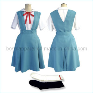Girl′s Dress in School of School Uniform (SCU11) pictures & photos
