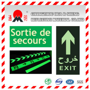 Pet/PVC Photo Luminescent Reflective Film for No Smoking Sign (FG301) pictures & photos