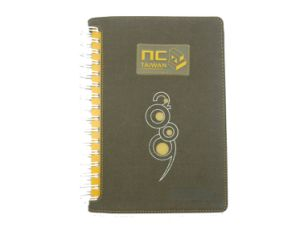 Plastic Spiral Notebook with Die Cut Cover (K3-004)