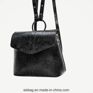 Fashion PU Women Backpack Leisure Lady Bag with Metal O Ring pictures & photos