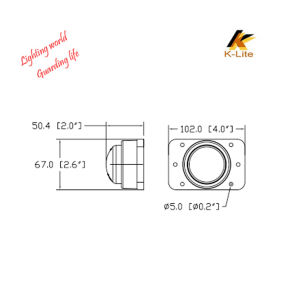 LED Track Light Clearance Position Lamp, Acrylic Material for Lense Lb906 pictures & photos