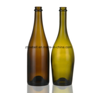 Antique Green Champagne 750ml Glass Bottle pictures & photos