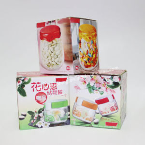 Floral Print Square Paper Corrugated Box for Jars Packing pictures & photos