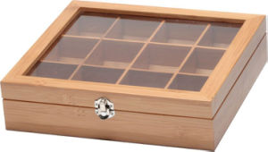 Multi-Grid Wooden Box for Carrying Little Things with Transparent Window pictures & photos