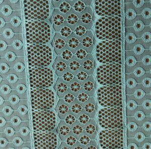 Polyester and Spandex Jacquard Lace Fabric pictures & photos