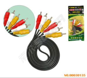 Factory Price 1.5m AV Cable Male to Male 3 RCA to 3 RCA AV High Definition Signal Line Video Cable (AV-613A-1.5m-white) pictures & photos