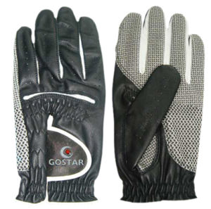 Black Cabrette Men′ S Golf Glove with Ballmarker (CGL-17) pictures & photos