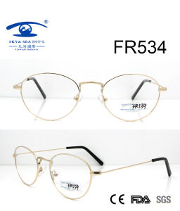2017 Round Shape Metal Optical Frame (FR534) pictures & photos