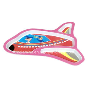 Kids Melamine Airplane Shaped Dinner Plate (PT180) pictures & photos