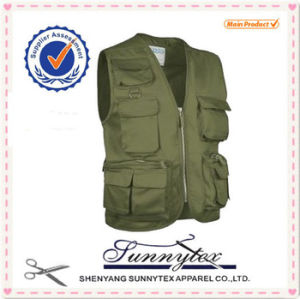 OEM Manufactory Multi Pockets Fishing Photographer Vest pictures & photos