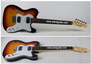 F Hole Sunburst Colour Thinline Telecaster Electrical Guitar for Sale pictures & photos