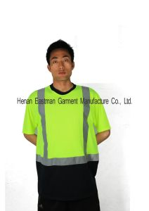 Hi-Vis Breathable Reflective Workwear T-Shirt pictures & photos