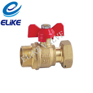 Dn20 Brass Water Meter Valve with Butterfly Handle