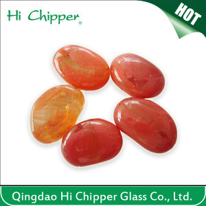Red Colored Glass Gemstone Pebbles for Fire Pit pictures & photos