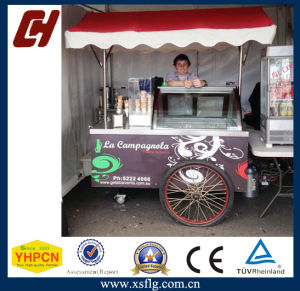 Air Cooling Ice Cream Cart with Freezer and Sink pictures & photos