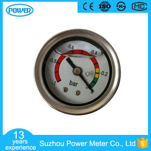 2017 50mm Stainless Steel Case Liquid Filled Pressure Gauge with Flange pictures & photos