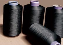 Nylon 6 Twist Yarn, Polyamide Textured Yarn, White and Black (70D/24F/2)