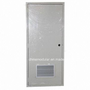 Steel Door with Aluminium Air Vent for Toliets Entry (CHAM-DAV01) pictures & photos