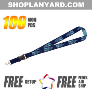 Woven Lanyard with Metal Clip & Plastic Buckle